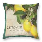 Lemon Tree - Citronier Citrus Limonum Throw Pillow