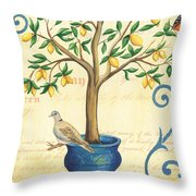 Lemon Tree Of Life Throw Pillow