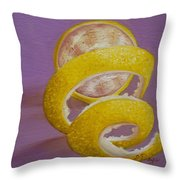 Lemon Twist I Throw Pillow