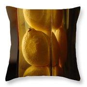 Lemon Vase Throw Pillow