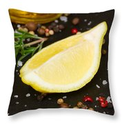 Lemon With Spices  Throw Pillow