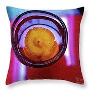 Lemonade In Red Throw Pillow