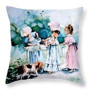 Lemonade Ladies Throw Pillow