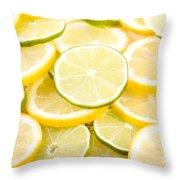 Lemons And Limes Abstract Throw Pillow