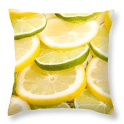 Lemons And Limes Throw Pillow