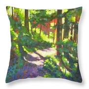 Lena Lake Trail II Throw Pillow