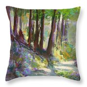 Lena Lake Trail Shadows Throw Pillow