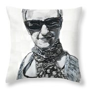Lena Noble, Portrait Throw Pillow