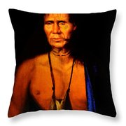 Lenape Chief Throw Pillow