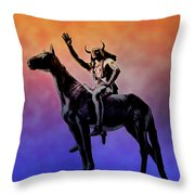 Lenape Indian Chief Throw Pillow