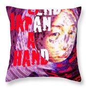 Lend Japan A Hand Throw Pillow