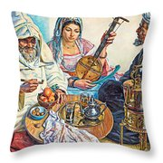 L.endres Maroc Painting Throw Pillow