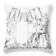 Lener String Quartet Throw Pillow by Granger