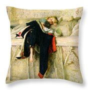 L'enfant Du Regiment Throw Pillow by Sir John Everett Millais
