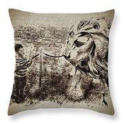 L'enfant Et Le Lion  Throw Pillow
