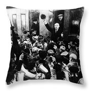 Lenin At Finland Station Throw Pillow