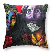 Lennon And Ono Throw Pillow