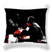Lennox Lewis And Evander Holyfield  Throw Pillow