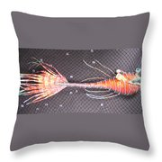 Lenny The Lipster Fish Throw Pillow
