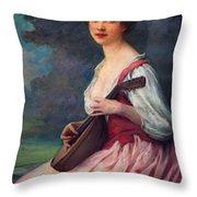 Lenoir Charles La Mandoline Throw Pillow