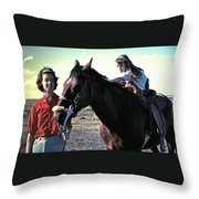 Lenore And Dawn With Rever'n' 1966 Family Snapshot Throw Pillow
