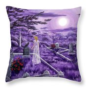 Lenore In Lavender Moonlight Throw Pillow