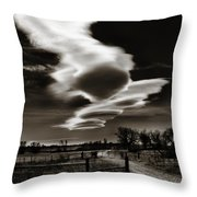 Lenticular Clouds Of Colorado Throw Pillow