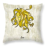 Leo Artwork Throw Pillow