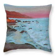 Leo Carillo Beach Afternoon II Throw Pillow