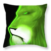 Leo Profile- Lime Throw Pillow