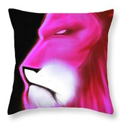 Leo Profile- Radiant Hot Pink Throw Pillow