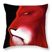 Leo Profile- Red Throw Pillow