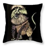 Leo, Rampant -- Negative Sepia Throw Pillow