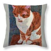 Leo The Cat Throw Pillow