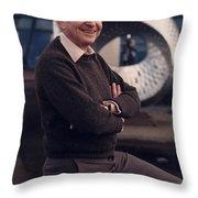Leon Lederman, American Physicist Throw Pillow