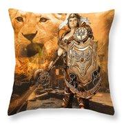 Leona Lioness Warrior  Throw Pillow