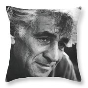 Leonard Bernstein 1970 Throw Pillow