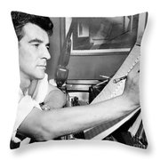 Leonard Bernstein, American Composer Throw Pillow