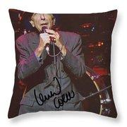 Leonard Cohen Autographed Throw Pillow