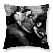 The Virgin And Chid With St. Anne Throw Pillow