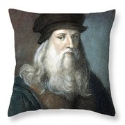 Leonardo Da Vinci - To License For Professional Use Visit Granger.com Throw Pillow
