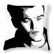 Leonardo Dicaprio Portrait Throw Pillow