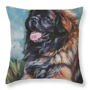 Leonberger Art Print Throw Pillow