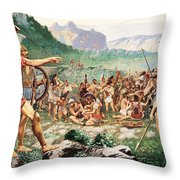 Leonidas Bids Farewell To Allies Throw Pillow