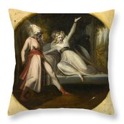 Leonore Discovering The Dagger Left By Alonzo Throw Pillow