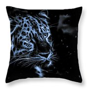 Leopard In The Darkness.  Throw Pillow