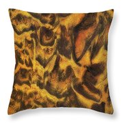 Leopard In The Sand Throw Pillow