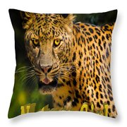 Leopard Nature Girl Throw Pillow