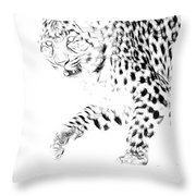 Leopard Spots Black And White Throw Pillow