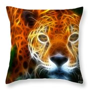Leopard Watching At His Prey Throw Pillow